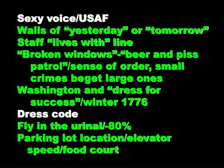 Sexy voice/USAF