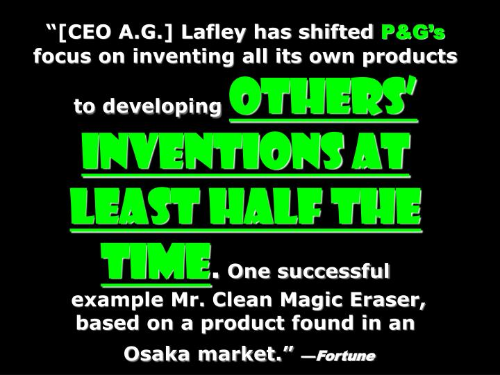 """[CEO A.G.] Lafley has shifted"
