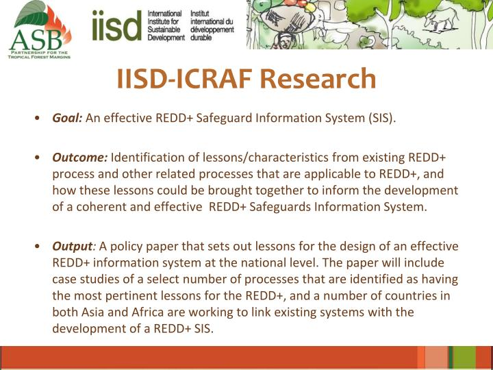 IISD-ICRAF Research