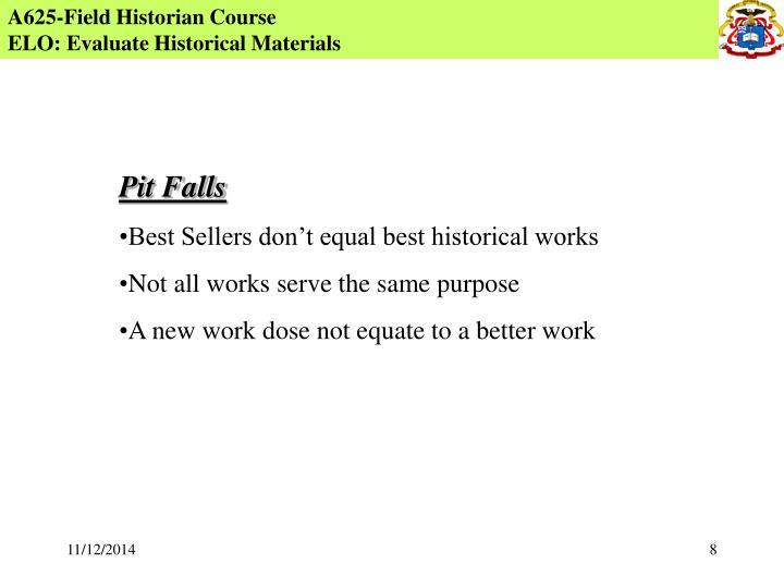A625-Field Historian Course