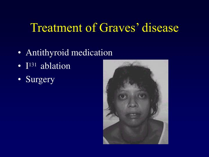 Treatment of graves disease