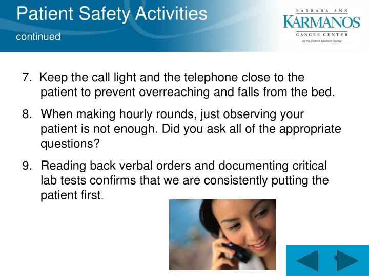 Patient Safety Activities