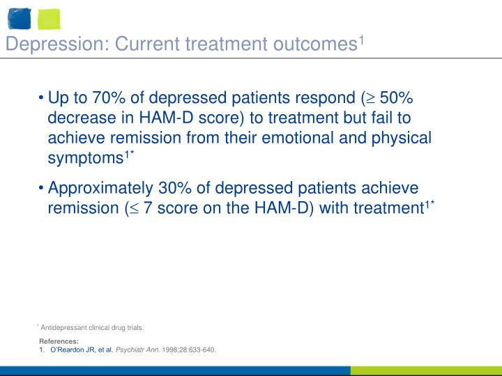 Depression: Current treatment outcomes