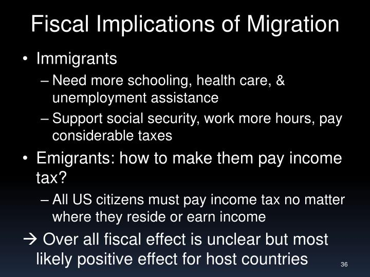 Fiscal Implications of Migration