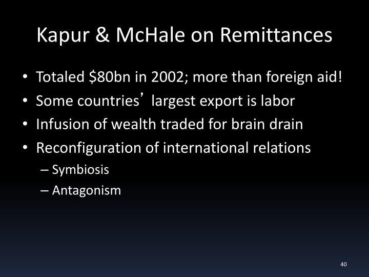 Kapur & McHale on Remittances