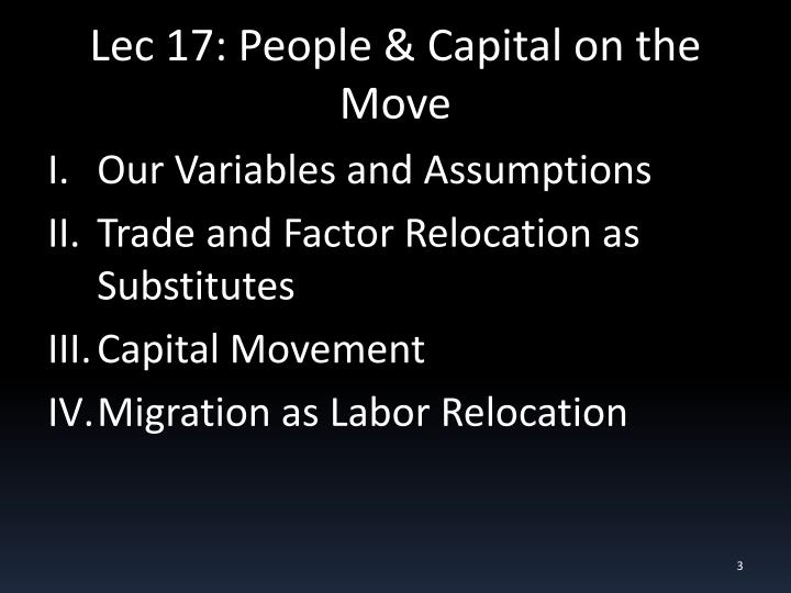 Lec 17 people capital on the move