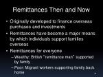 remittances then and now