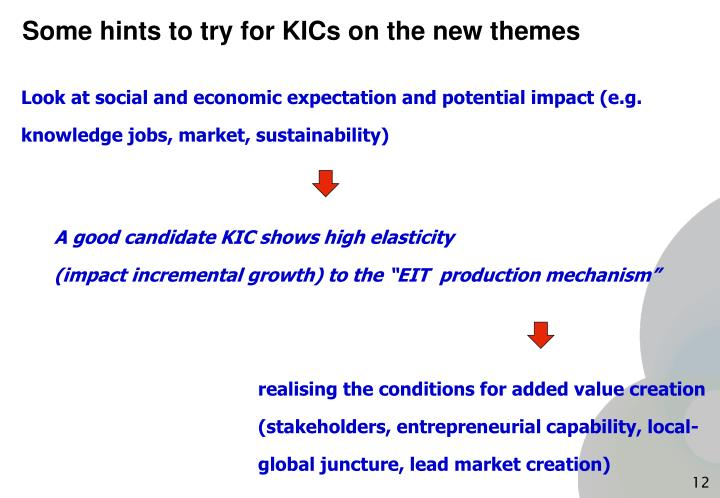 Some hints to try for KICs on the new themes