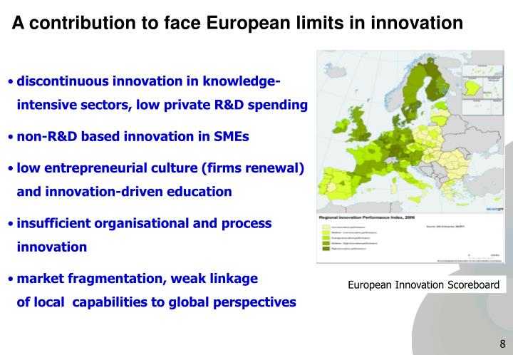A contribution to face European limits in innovation