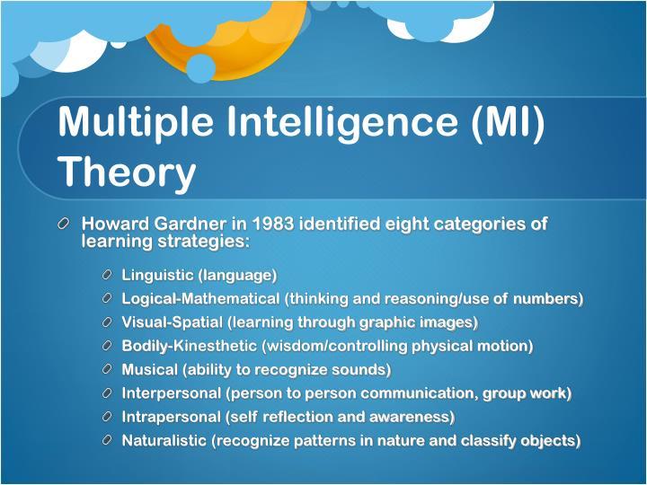 Multiple Intelligence (MI) Theory