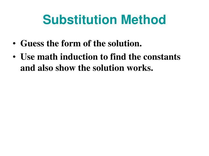 Substitution Method