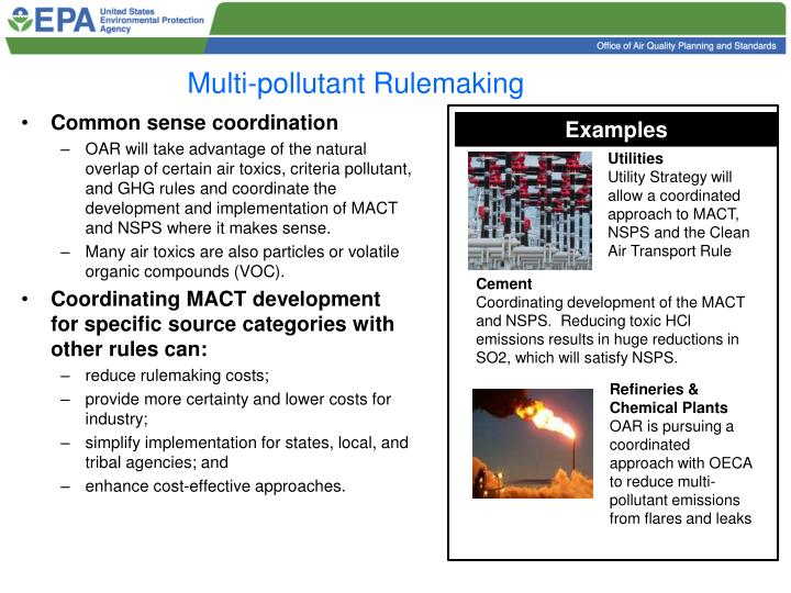 Multi-pollutant Rulemaking