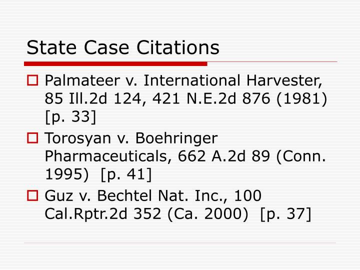 State Case Citations