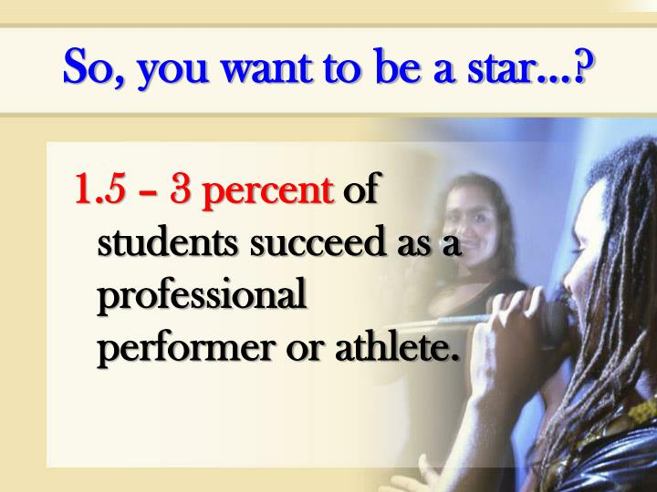 So, you want to be a star…?