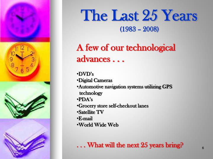 The Last 25 Years