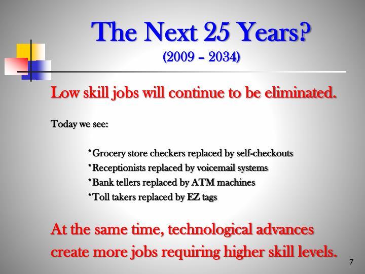 The Next 25 Years?