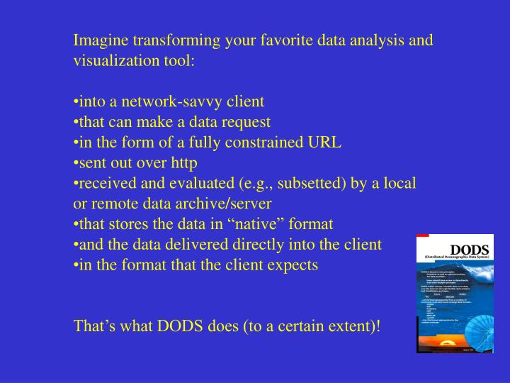 Imagine transforming your favorite data analysis and visualization tool: