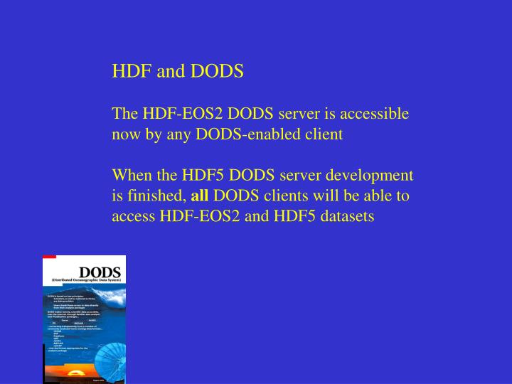 HDF and DODS