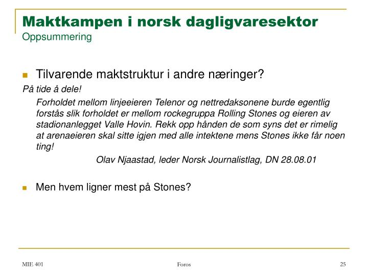Maktkampen i norsk dagligvaresektor