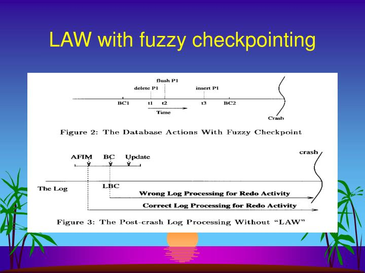 LAW with fuzzy checkpointing