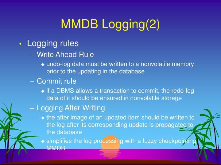 MMDB Logging(2)