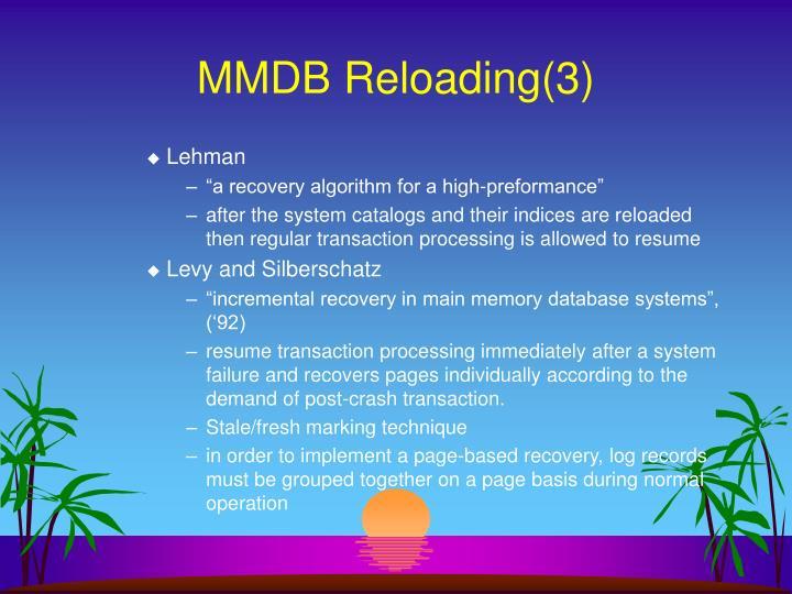MMDB Reloading(3)
