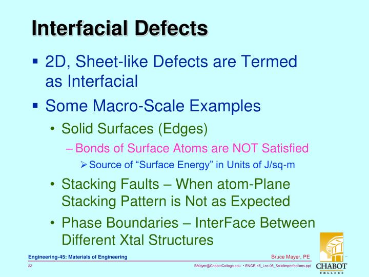 Interfacial Defects