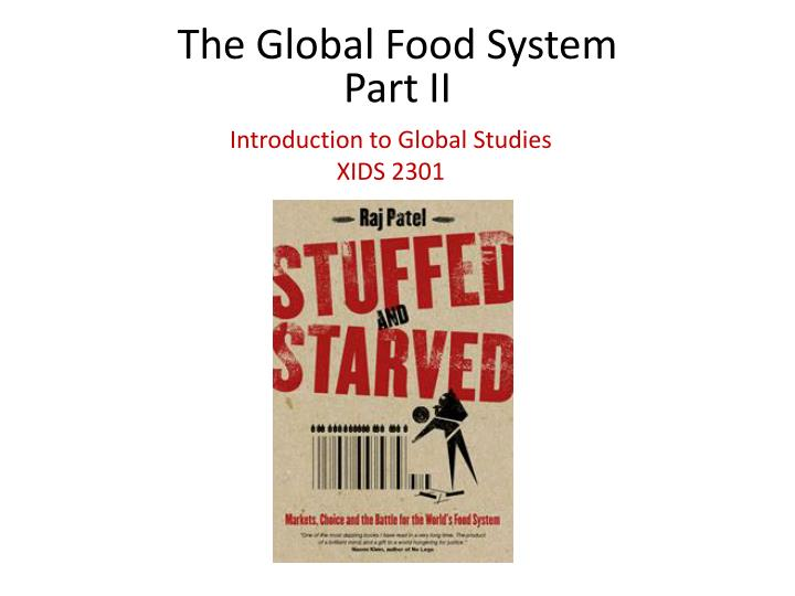 The Global Food