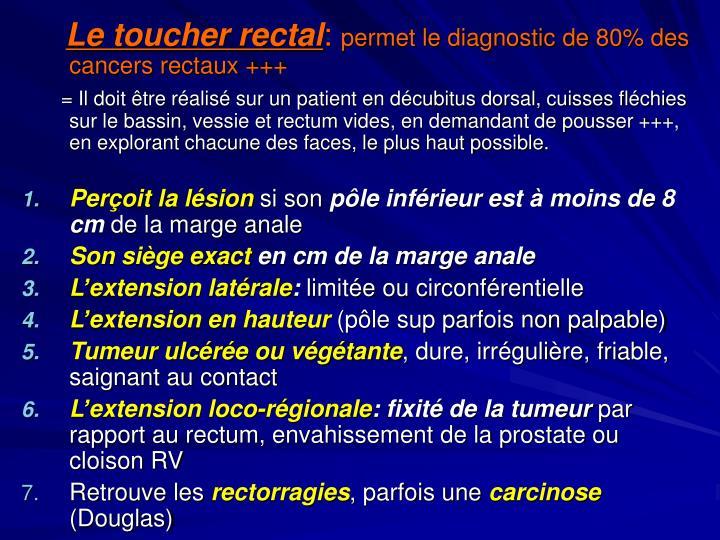 Le toucher rectal