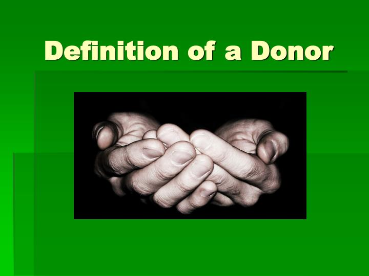 Definition of a donor