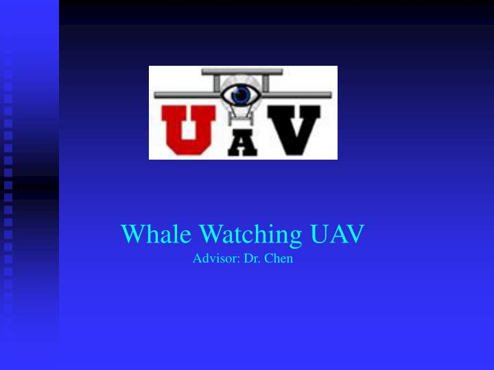 Whale watching uav advisor dr chen
