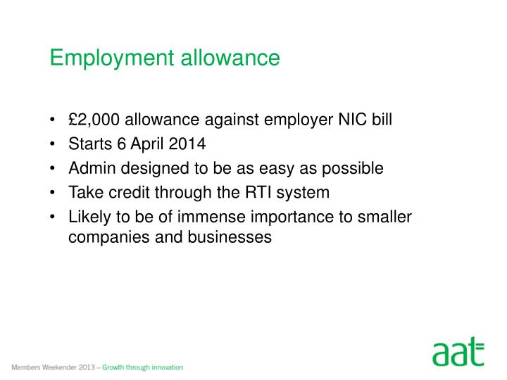 Employment allowance