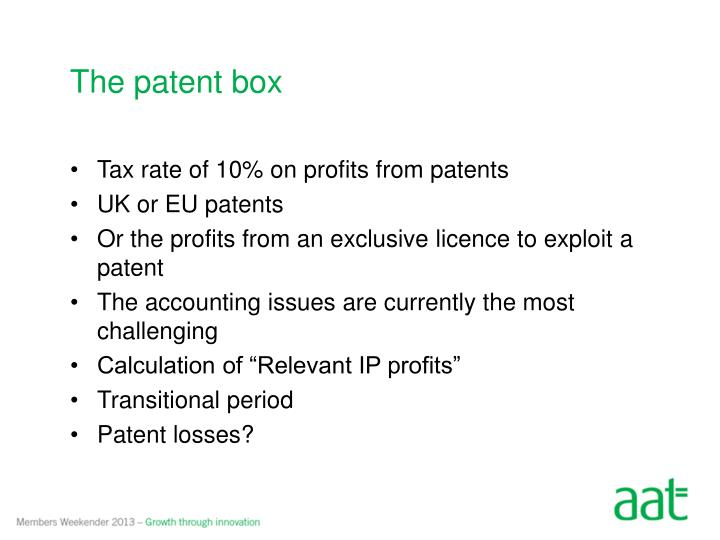 The patent box