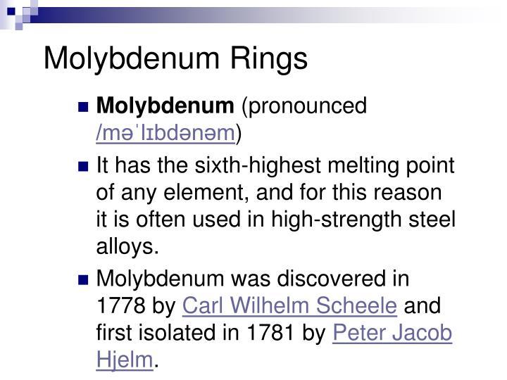 Molybdenum Rings