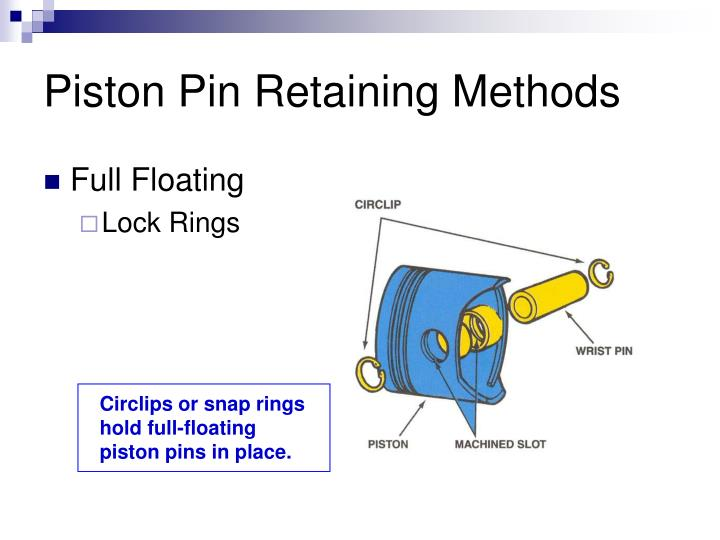 Piston Pin Retaining Methods