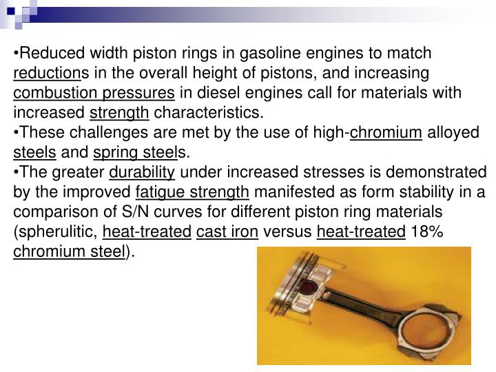 Reduced width piston rings in gasoline engines to match
