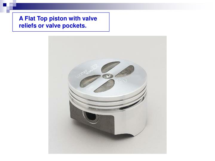 A Flat Top piston with valve reliefs or valve pockets.