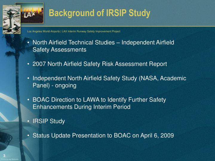 Background of irsip study