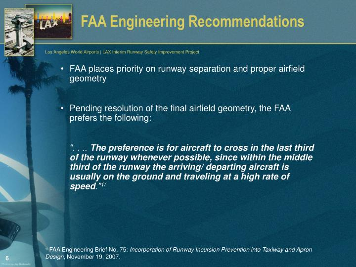 FAA Engineering Recommendations
