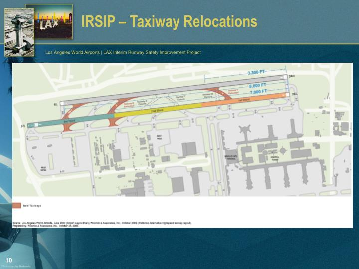 IRSIP – Taxiway Relocations