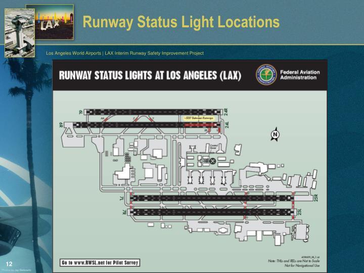 Runway Status Light Locations