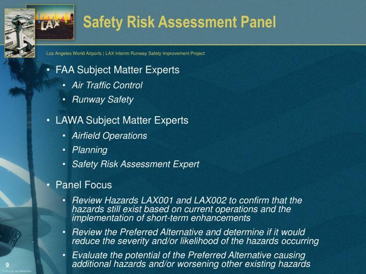 Safety Risk Assessment Panel
