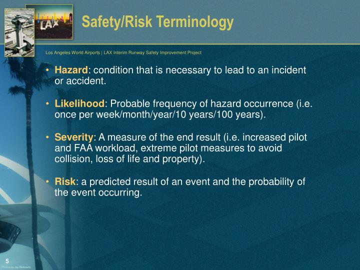 Safety/Risk Terminology