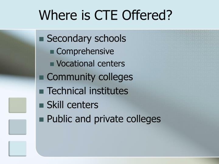 Where is CTE Offered?
