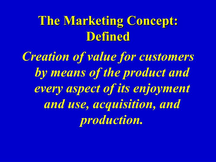 The Marketing Concept: Defined