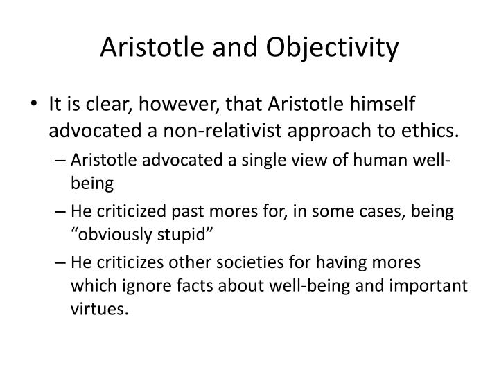 Aristotle and Objectivity
