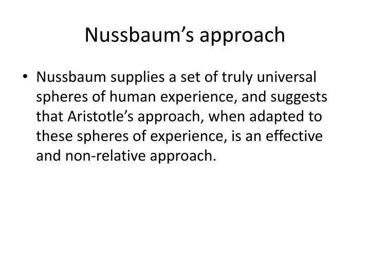 Nussbaum's approach