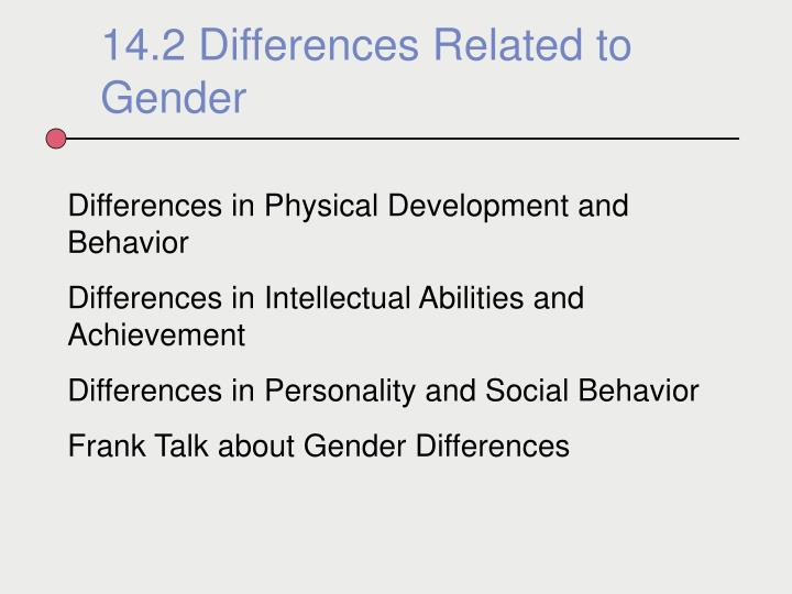 14.2 Differences Related to Gender