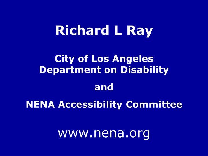 Richard L Ray