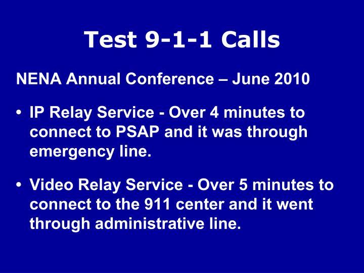Test 9-1-1 Calls
